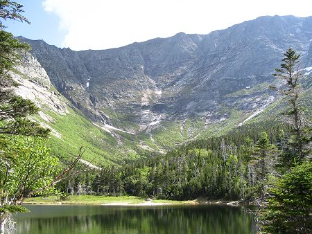 Chimney Pond and Mt Katahdin